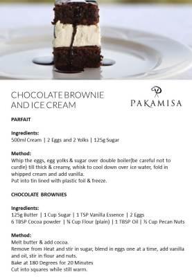Pakamisa Recipes - CHOCOLATE BROWNIE AND ICE CREAM