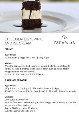 Pakamisa Recipes - CHOCOLATE BROWNIE AND ICE CREAM