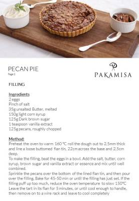 Pakamisa Recipes - PECAN PIE 2